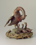 Sculpture with Pelicans, 1500–1600, Swiss. Painted wood, 11 5/8 × 10 5/8 × 10 1/4 in. Swiss National Museum, Zurich, LM-3972. Image Swiss National Museum, LM-3972, DIG-10683
