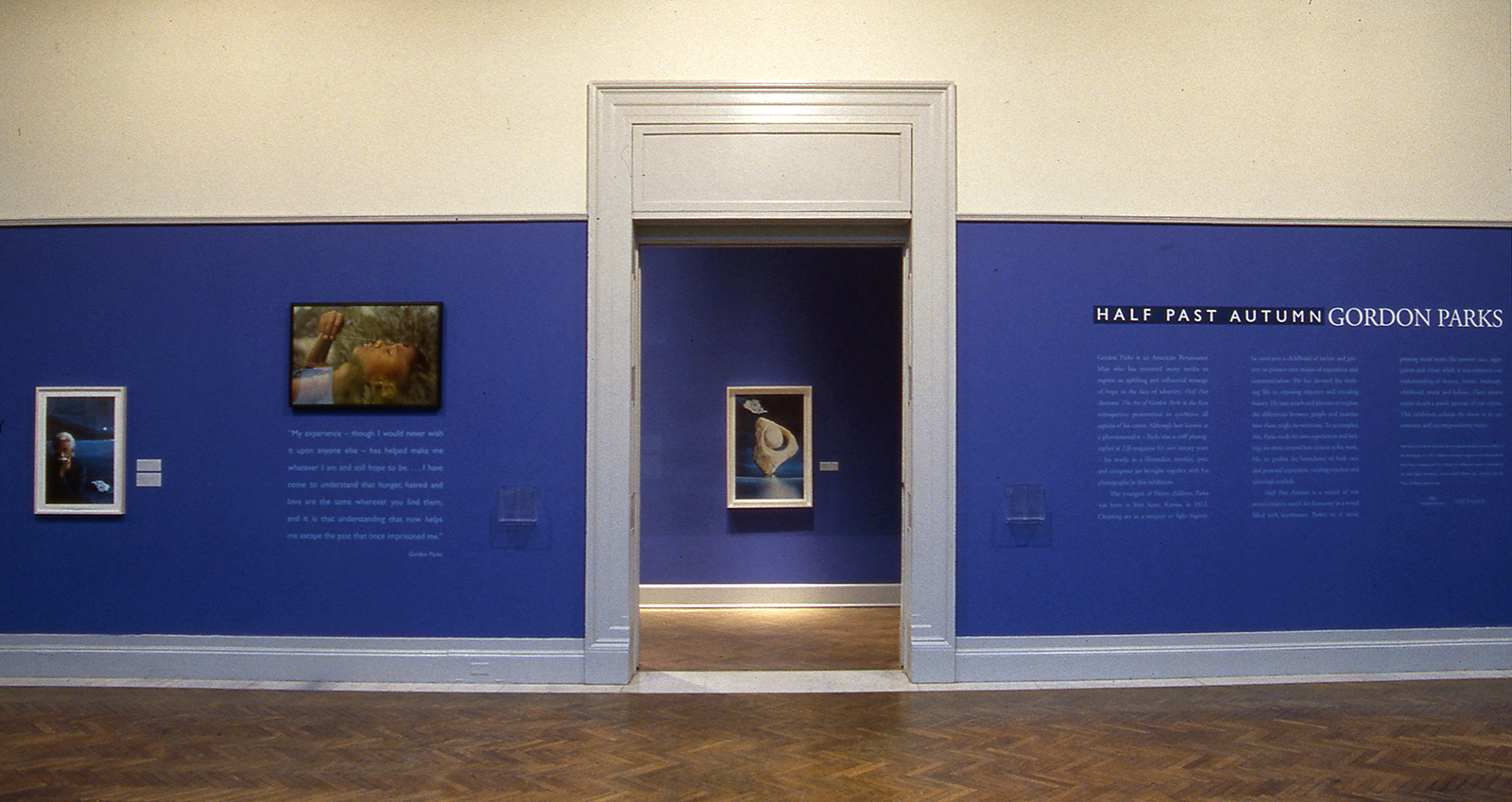 "An installation view of the exhibition ""Half Past Autumn"""