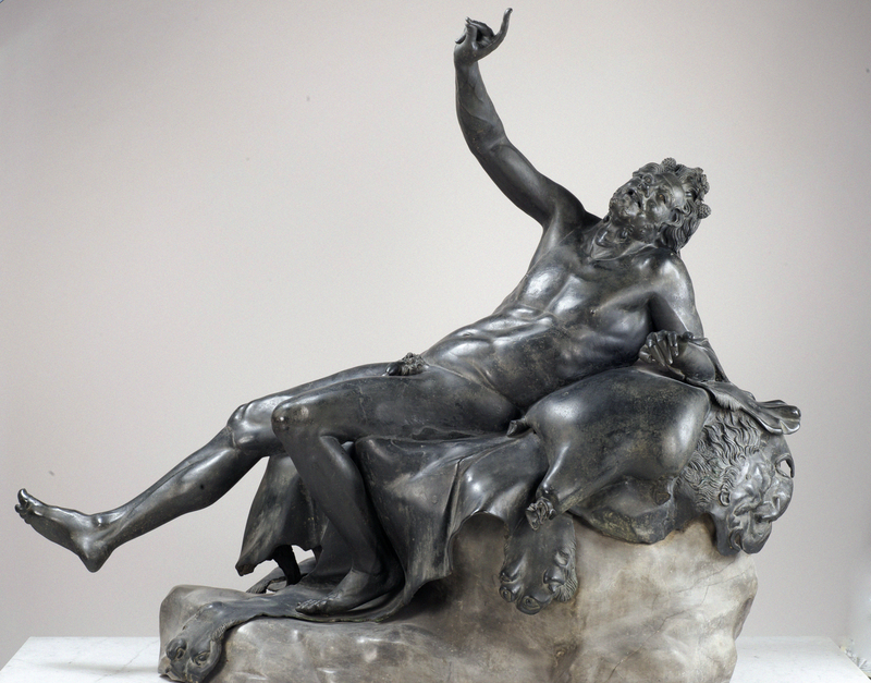 Drunken Satyr, 1st century BC–1st century AD, Roman. Bronze, 53 15/16 in. high. Museo Archeologico Nazionale di Napoli. Reproduced by agreement with the Ministry of Cultural Assets and Activities and Tourism. National Archaeological Museum of Naples - Restoration Office.