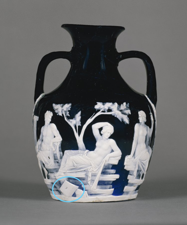 Another example of the small diamond shape on an ancient vase