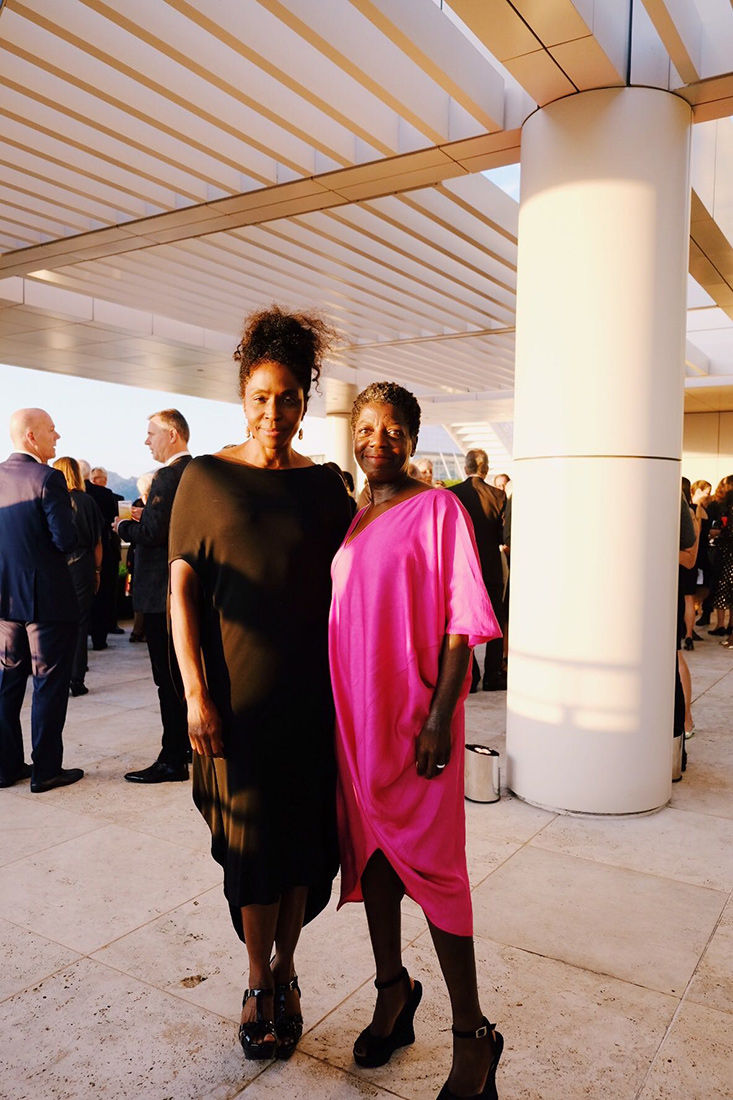 Lorna Simpson with Thelma Golden, director of the Studio Museum in Harlem