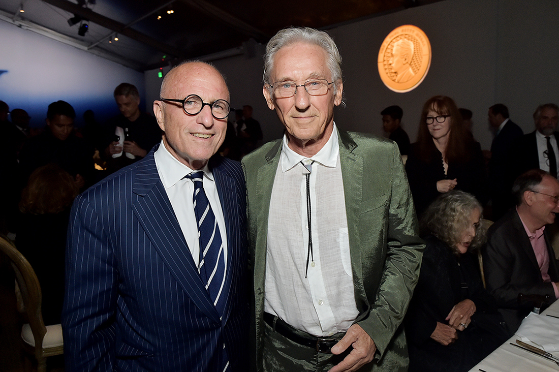 James Cuno, president of the Getty, and artist Ed Ruscha