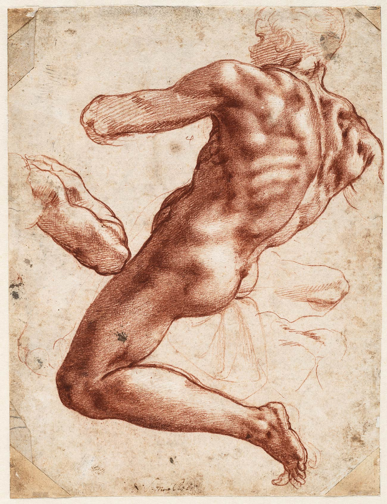 Exhibition Examines Michelangelo's Working Process through Rare Original Drawings