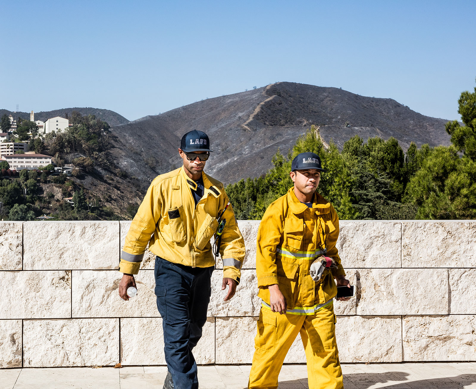 Response to the Getty Fire came from multiple agencies near and far. LAFD led the efforts.