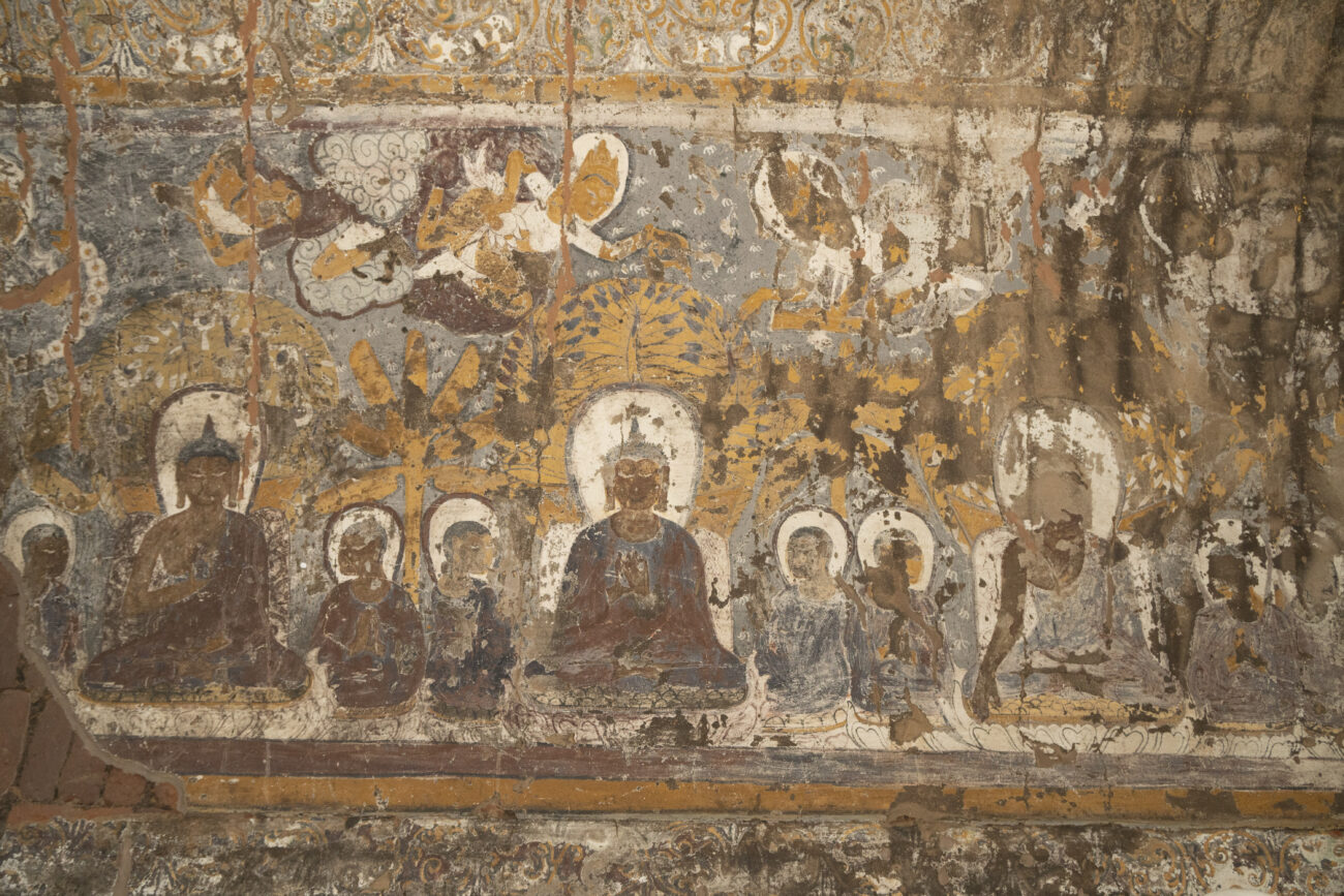 Detail of wall paintings in the interior of Myin-pya-gu temple, Bagan, Myanmar. Courtesy of the J. Paul Getty Trust