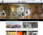 The Getty.edu home page in 2019.