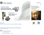 The Getty.edu home page in 2005.
