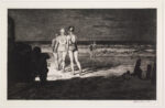 <em/>Down to the Sea at Night, 1929, Martin Lewis. Drypoint and sand-ground etching, 8 × 13 in. © Estate of Martin Lewis. The Huntington Library, Art Collections, and Botanical Gardens. Gift of Hannah S. Kully