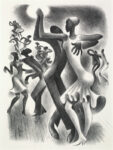 <em/>The Lindy Hop, 1936, Miguel Covarrubias. Lithograph, 13 × 10 in. © Maria Elena Rico Covarrubias. The Huntington Library, Art Collections, and Botanical Gardens. Gift of Hannah S. and Russel I. Kully