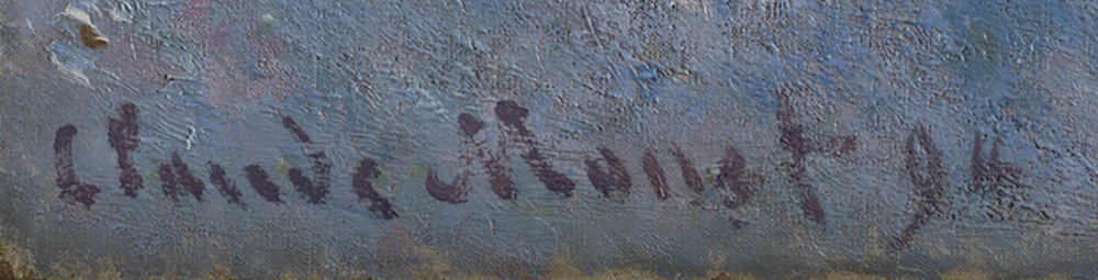 Claude Monet's signature