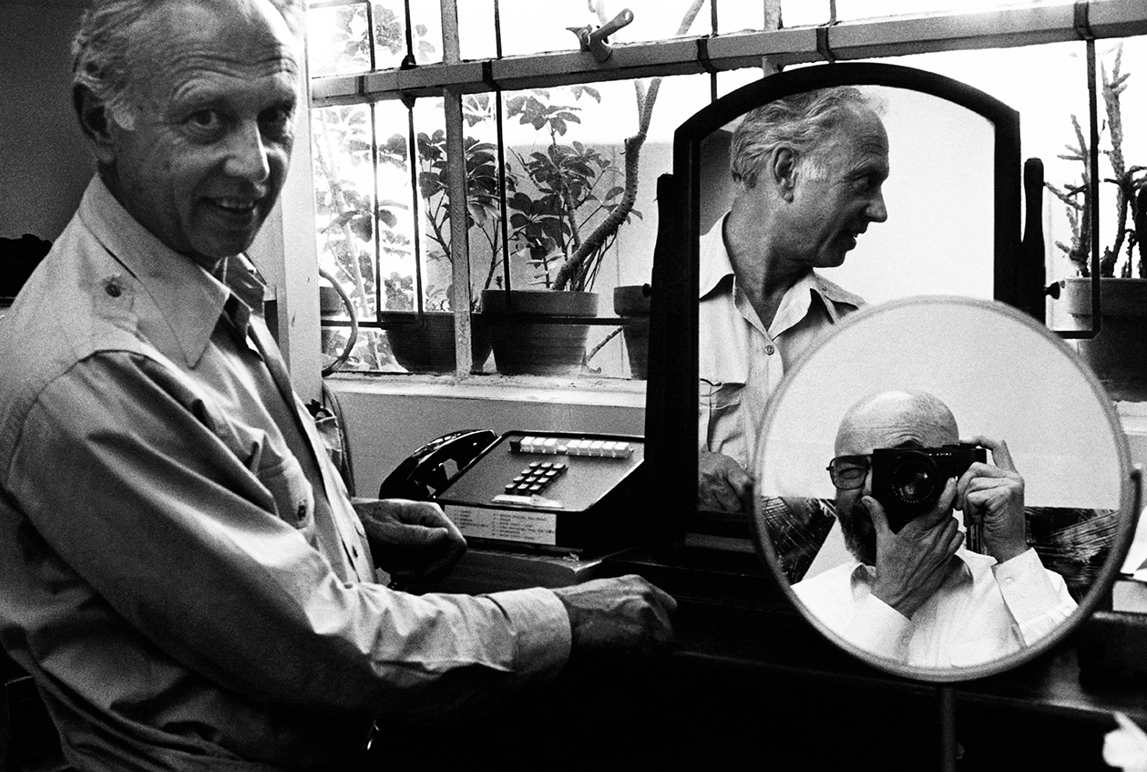 Self portrait with two Ellsworth Kellys. Photograph © 1984 Sidney B. Felsen