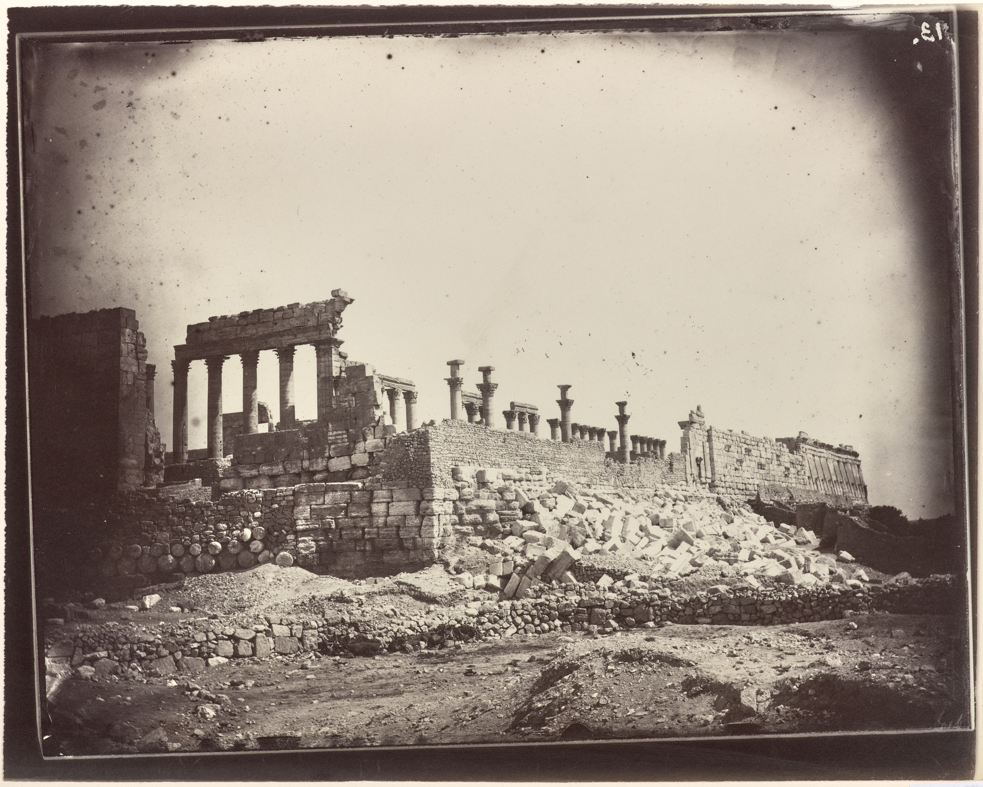 Photograph of ancient ruins with columns.