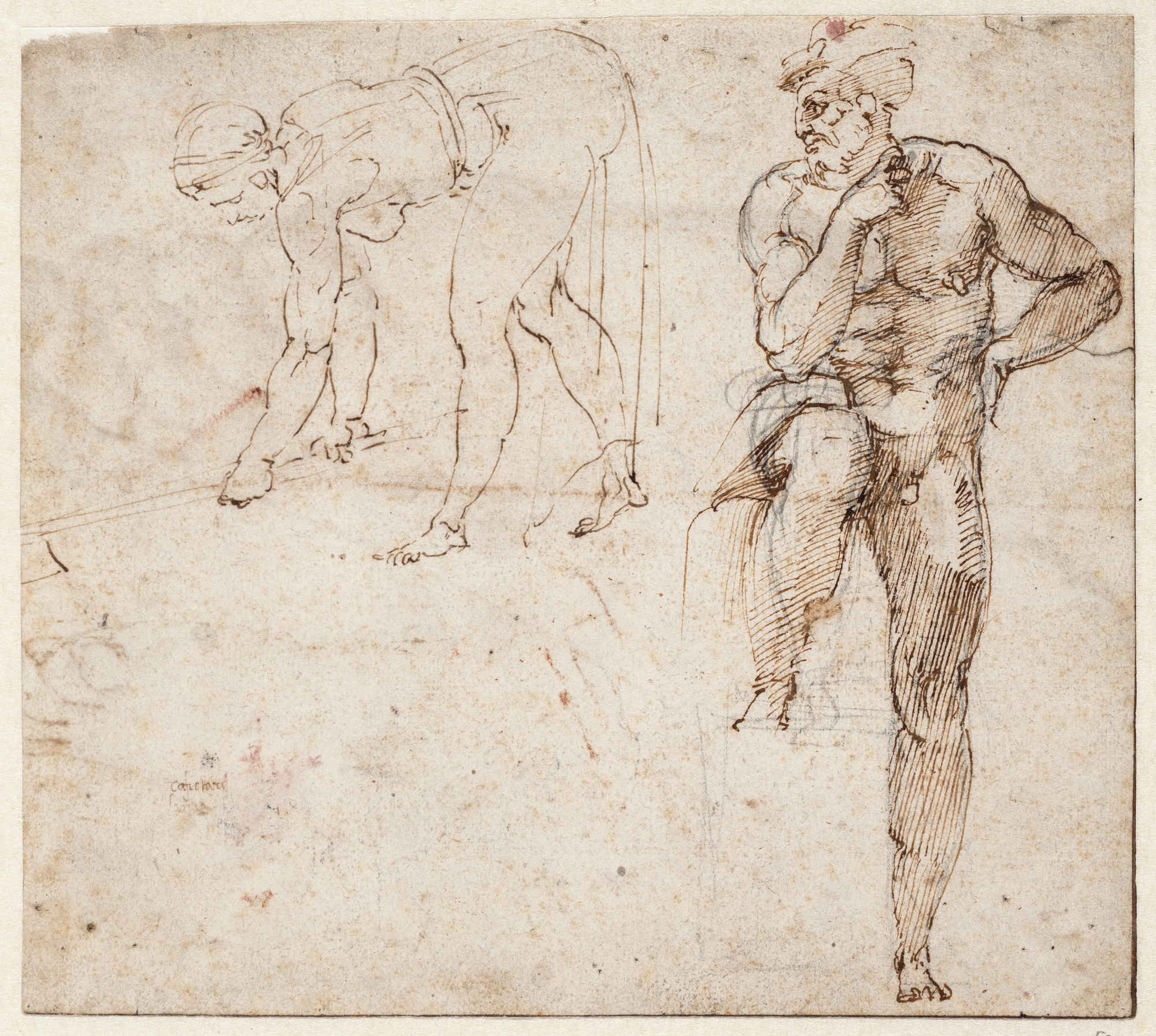 drawing and sketching of two figures