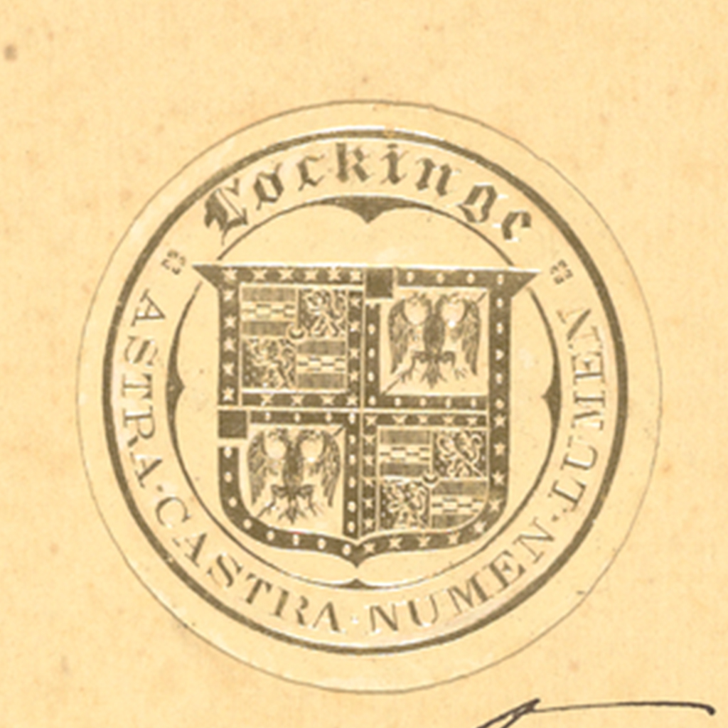 Four crested seal: Lockinge, Astra Castra Numen Lumen