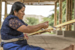 Woman weaver from the all-women Ceterni cooperative at the site of Chotuna-Chornancap, Peru