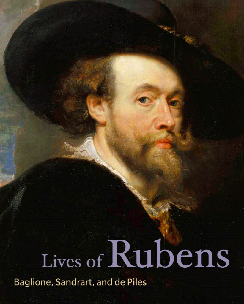 Book cover with portrait of Rubens.