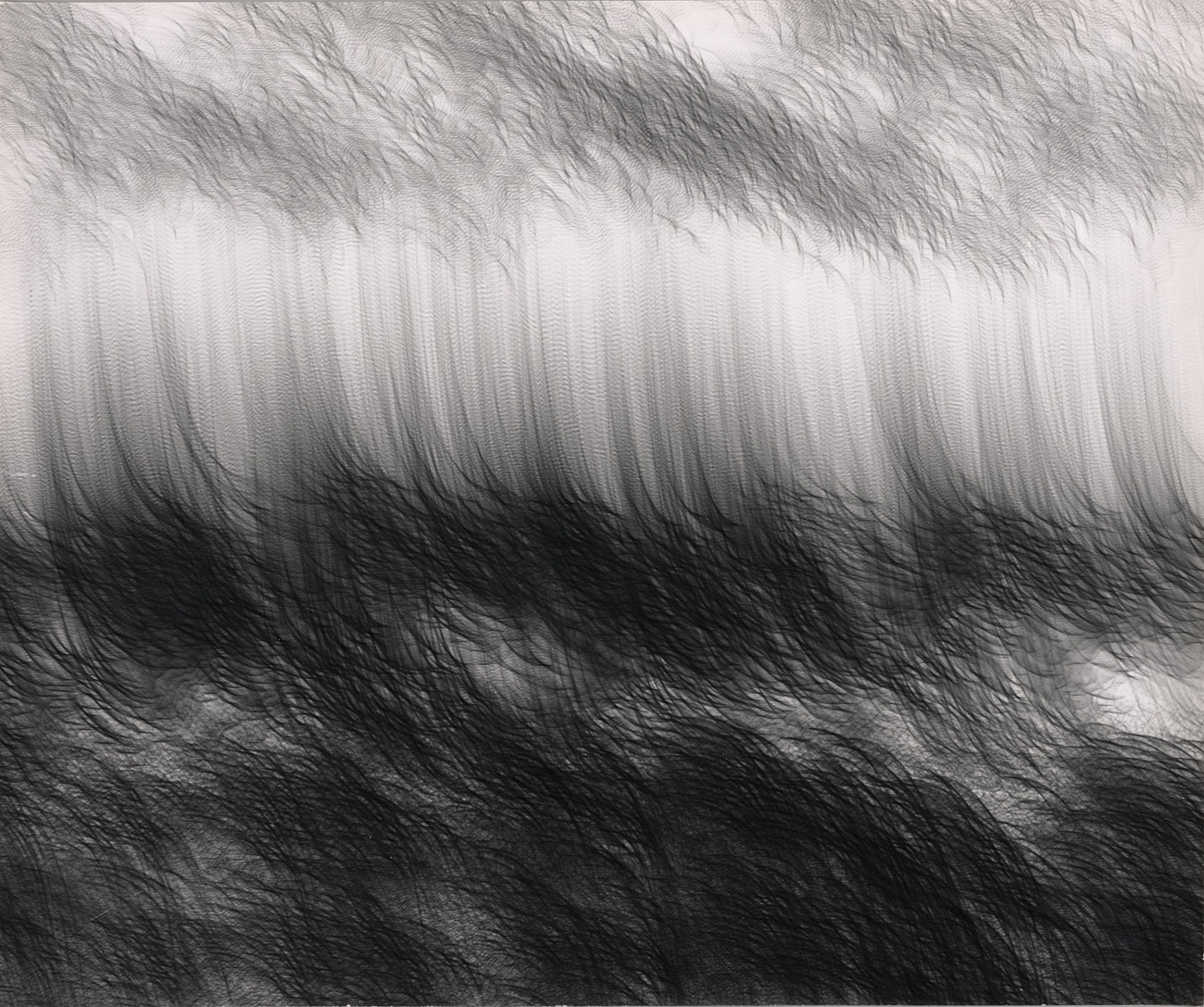 Abstract vertical lines that look like a stormy ocean