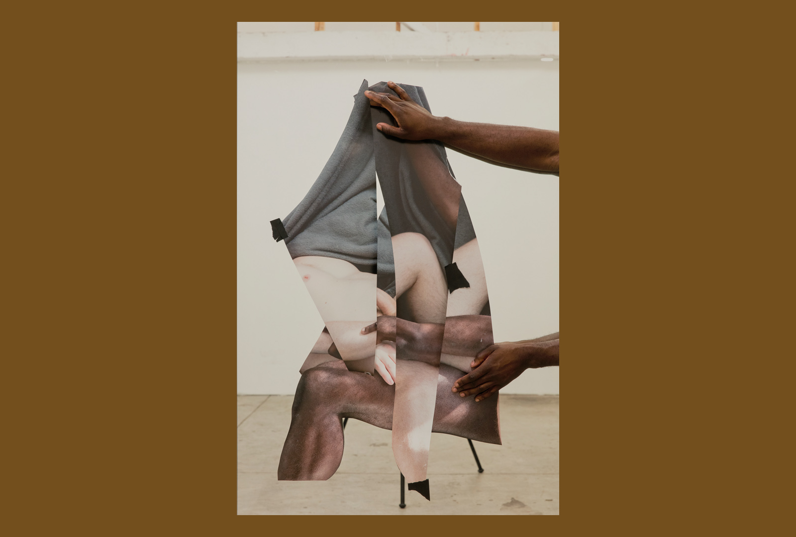 Photo collage of human body parts from multiple races