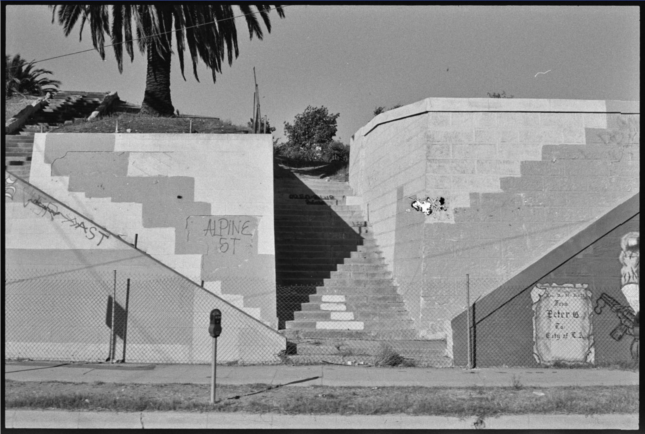 From Sunset Blvd. shoot, Ed Ruscha, 1990. Streets of Los Angeles Archive. The Getty Research Institute, 2012.M.1. © Ed Ruscha