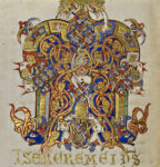 Inhabited Initial M (detail), 1153. Tempera colors, gold leaf, gold paint, and ink on parchment, 7 9/16 × 5 3/16 in. The J. Paul Getty Museum, Ms. Ludwig IX 1 (83.ML.97), fol. 171v. Digital image courtesy of Getty's Open Content Program