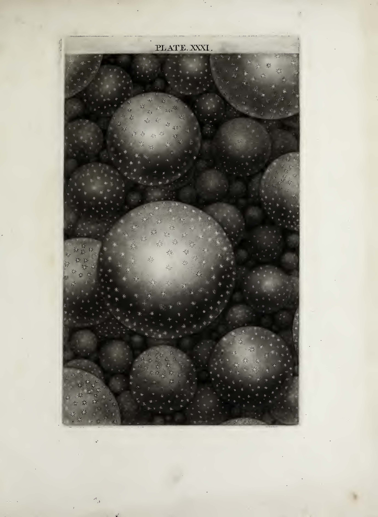 Many three dimensional spheres floating in black space