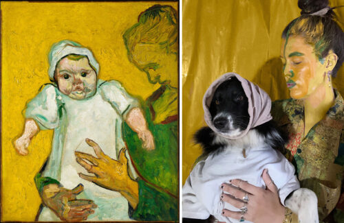 How an Artist Teamed up with Her Dog to Re-create Art