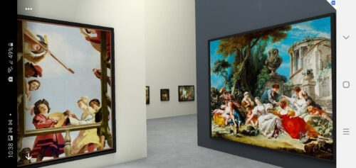 Use Augmented Reality to Explore a Virtual Museum Gallery from Home
