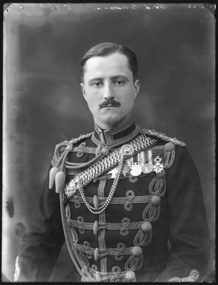 William Humble Eric Ward poses for a portrait in formal military uniform.